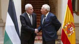 Margallo recibe a su homólogo palestino en Madrid.