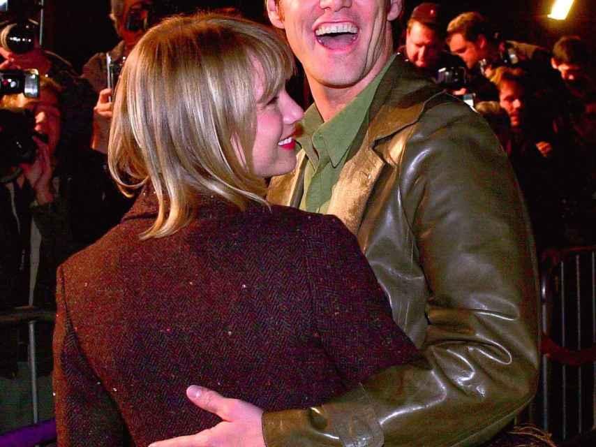 La actriz junto a Jim Carrey, uno de sus primeros novios conocidos.