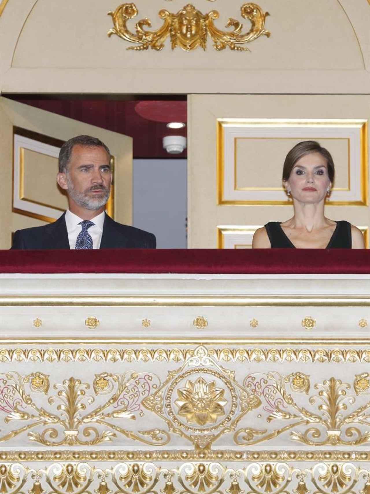 Los Reyes este jueves en el palco de la ópera