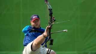 Matt Stutzman compitiendo en Río.