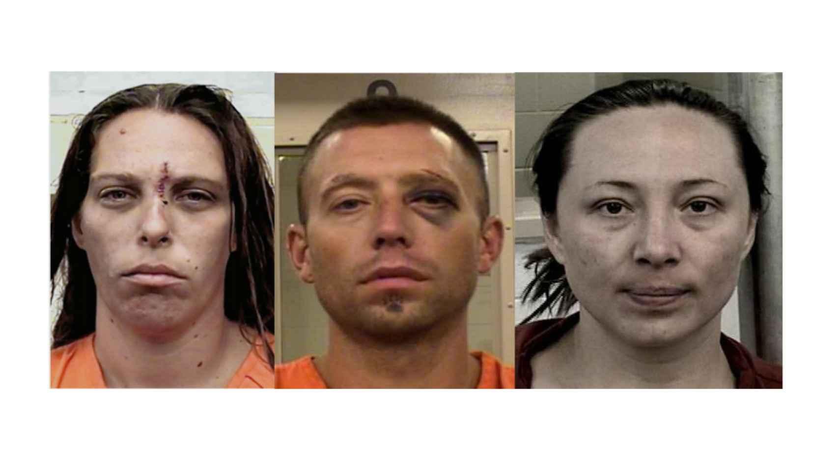 Michelle Martens, Fabian Gonzales, Jessica Kelley, acusados del crimen de Victoria.
