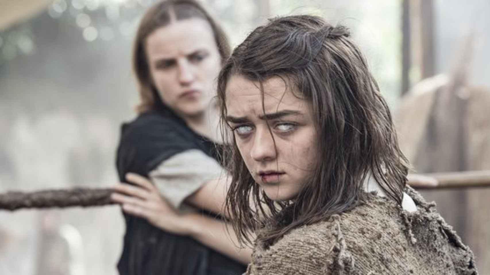 Maisie William da vida a Arya Stark y está nominada en la categoría de Mejor actriz de reparto.