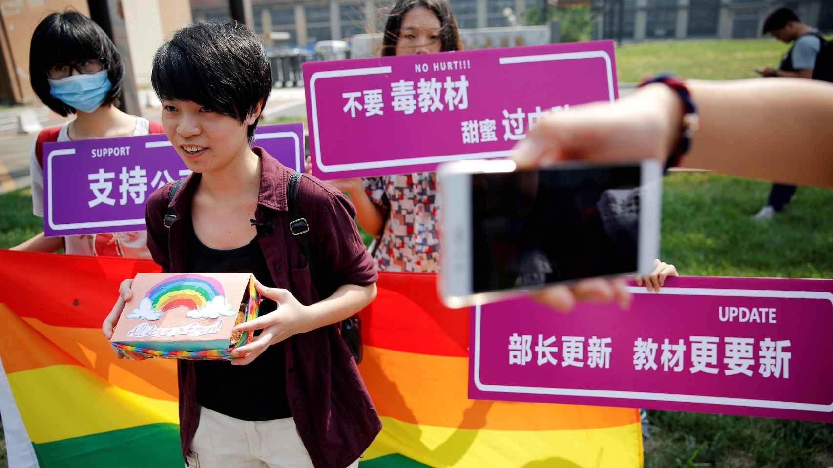 Qiu Bai, activista china en favor de la comunidad de LGTB.