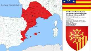 El mapa de la Unión Occitano-catalana, por louisthefox.