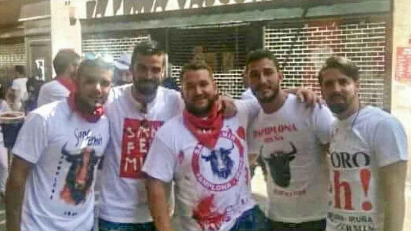 Los cinco detenidos por la presunta violación de San Fermín.