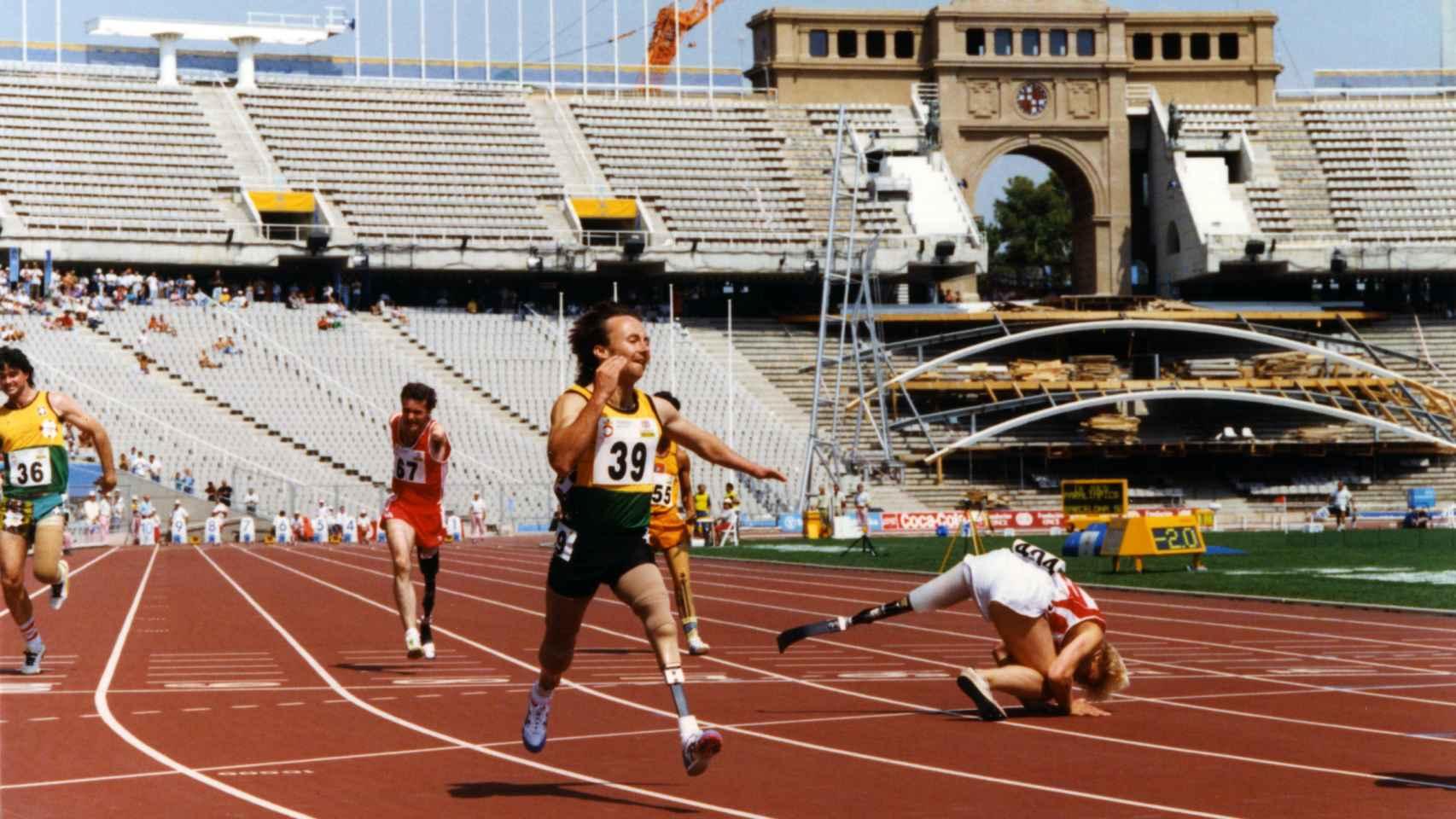 Mark Witheman durante los Juegos Paralímpicos de Barcelona 1992.