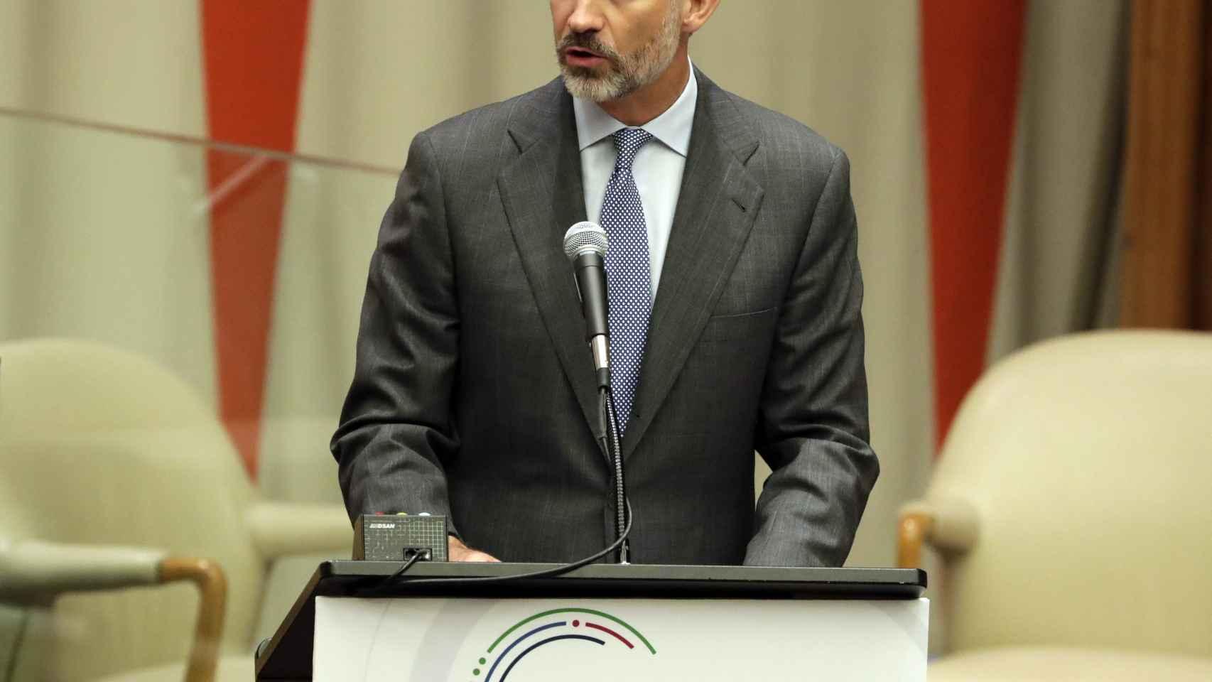 Felipe VI, en la sede de la ONU.