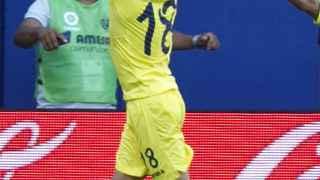 Sansone celebra su segundo gol ante la Real Sociedad.
