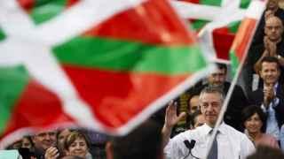 Iñigo Urkullu (PNV) este martes durante su intervención en un acto electoral
