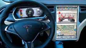 Interior del Tesla Model S, uno de los modelos rebajados