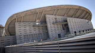 El estadio de La Peineta, en obras.