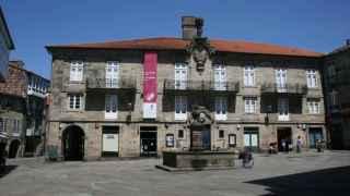 La Praza do Toural es una de las plazas más famosas de Santiago