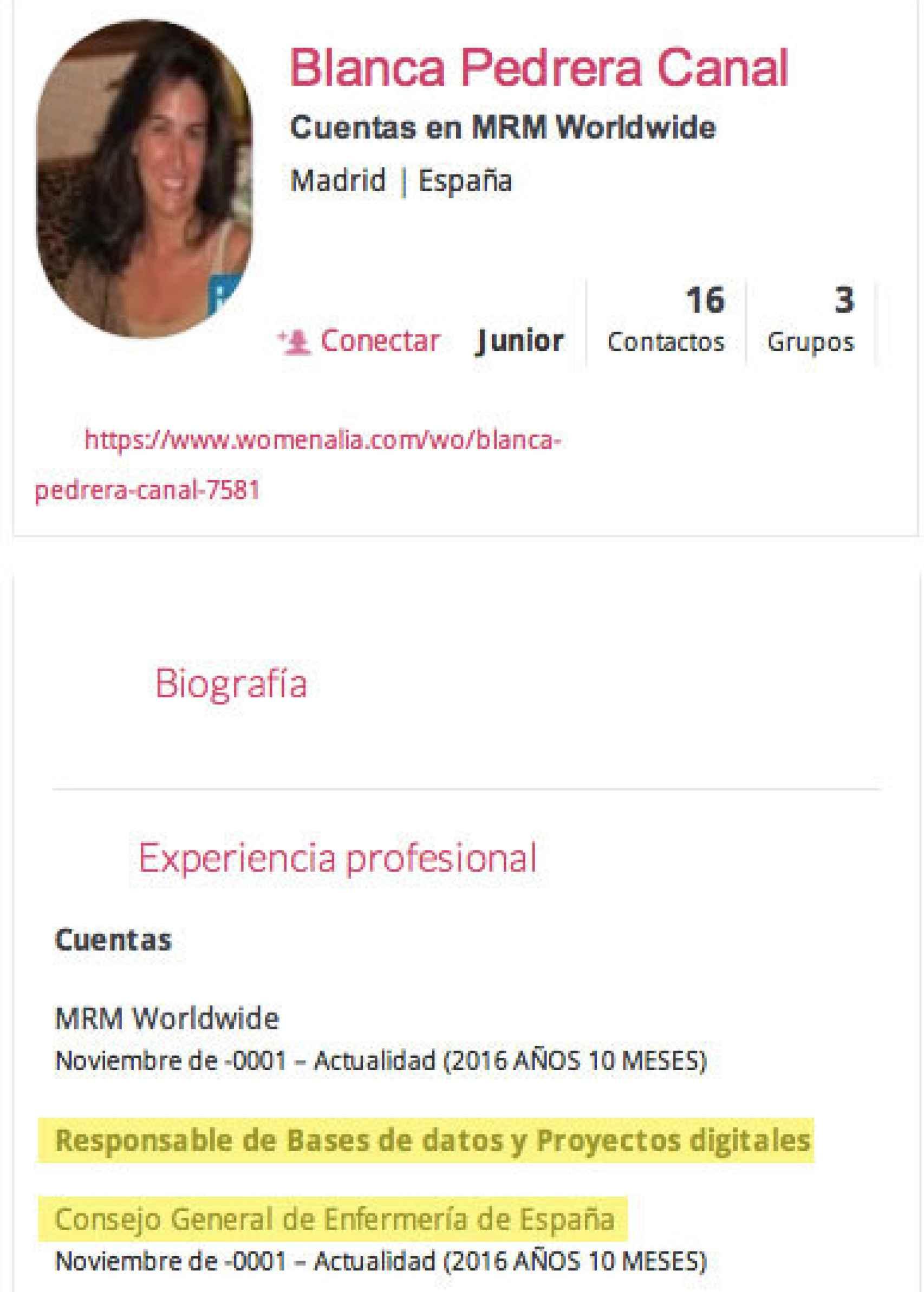 CV de Blanca Perera