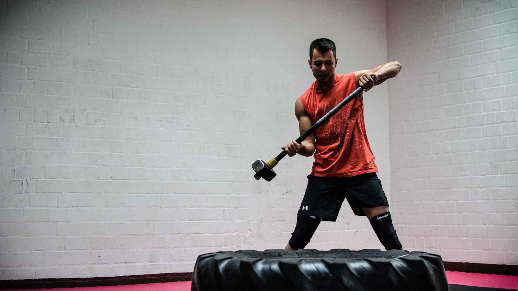Un practicante de CrossFit.