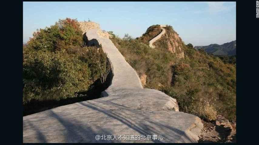 Tramo de la Muralla China asfaltada.