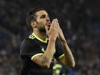 Cesc Fábregas celebra un gol con el Chelsea.