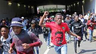 Manifestantes en la universidad Witwatersrand, en Johannesburgo.