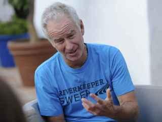 John McEnroe durante la entrevista en Marbella.
