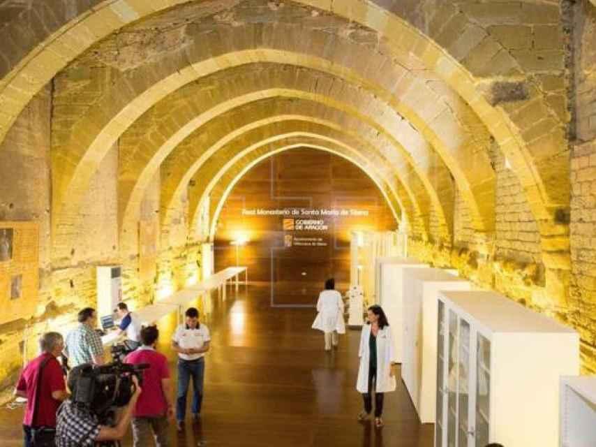 Vista de los antiguos dormitorios del monasterio de Sijena.