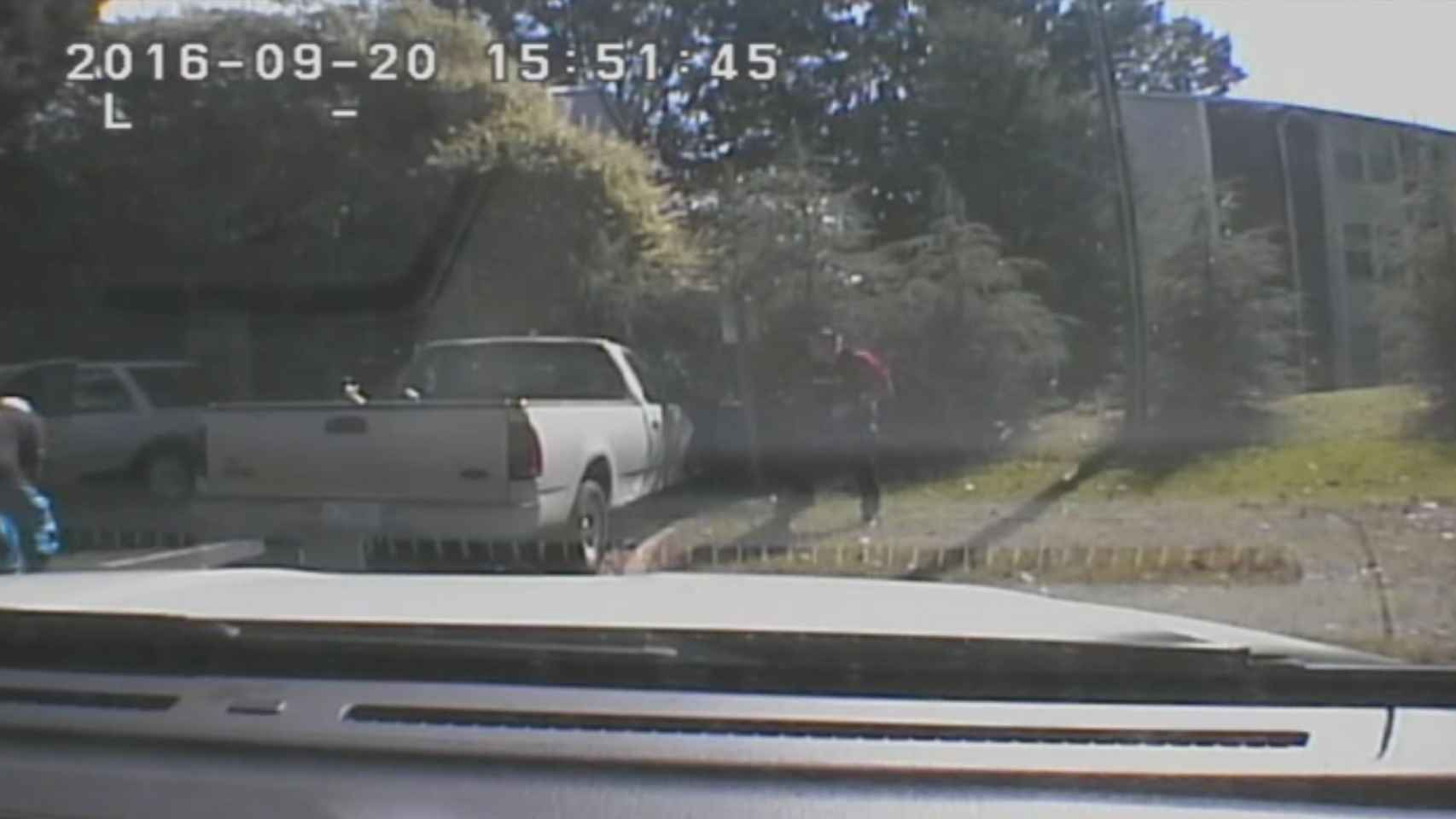 Captura de un de los vídeos difundidos por la Policía de Charlotte