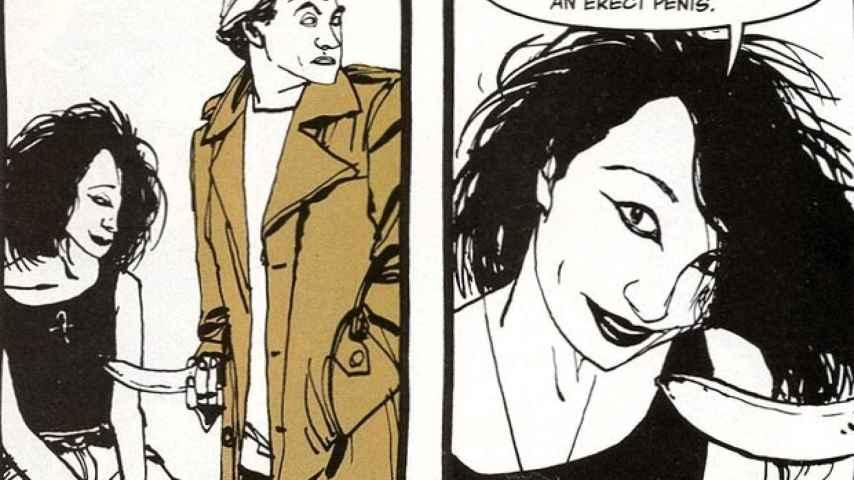 La viñeta molesta de La muerte: el alto costo de la vida, de Neil Gaiman.