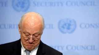 El enviado especial de la ONU para Siria, Staffan de Mistura, habla ante el Consejo de Seguridad.