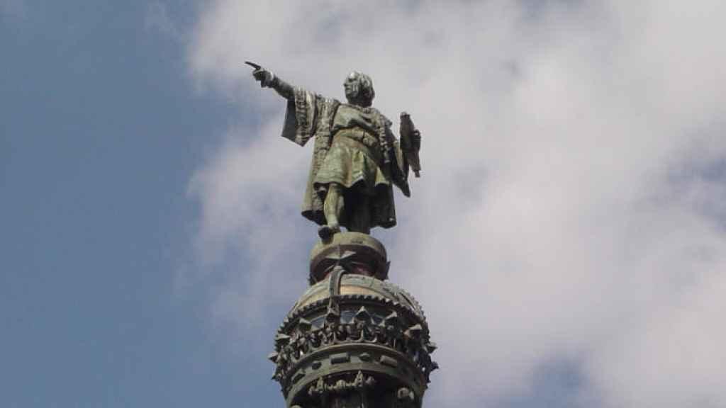 Estatua de Colón en Barcelona