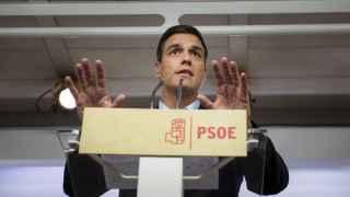 Sánchez, este lunes en Ferraz tras cuatro horas de reunión con el núcleo duro de su Ejecutiva.