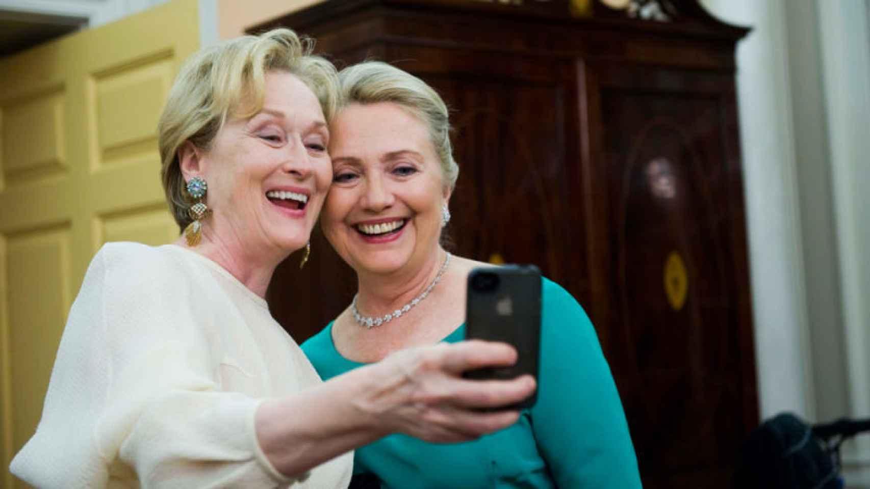 Meryl Streep y Hillary Clinton.