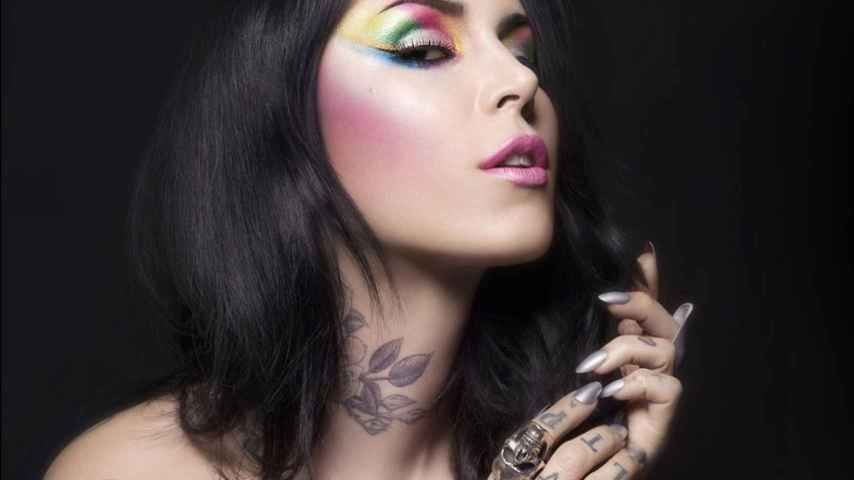 Kat Von D tatuadora, empresaria y celebrity de la televisión estadounidense.