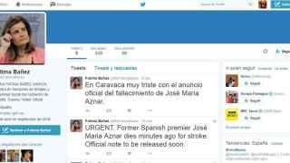 La cuenta falsa de Fátima Báñez cobra vida intentando matar a Aznar