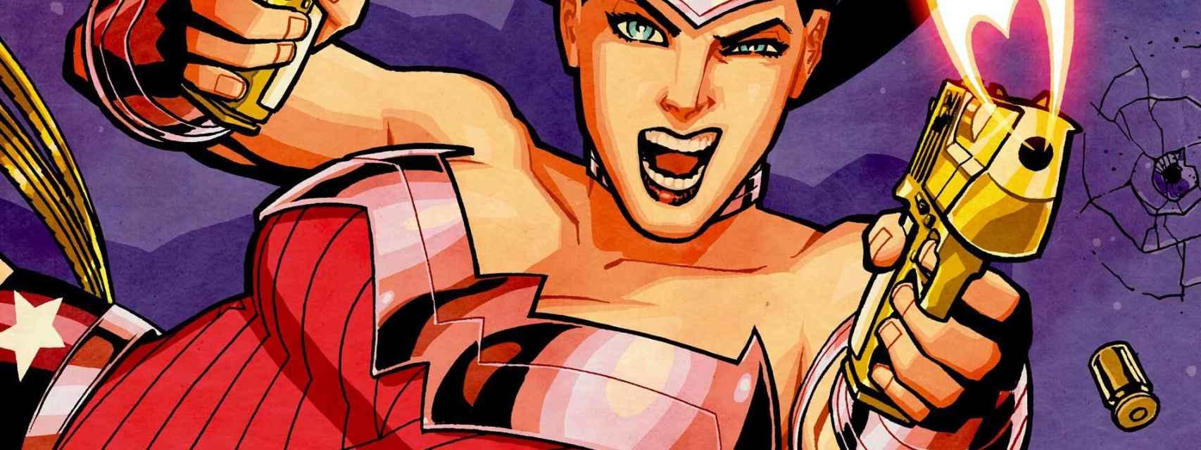 Una imagen de Wonder Woman en su lucha contra los males que amenazan la estabilidad social.