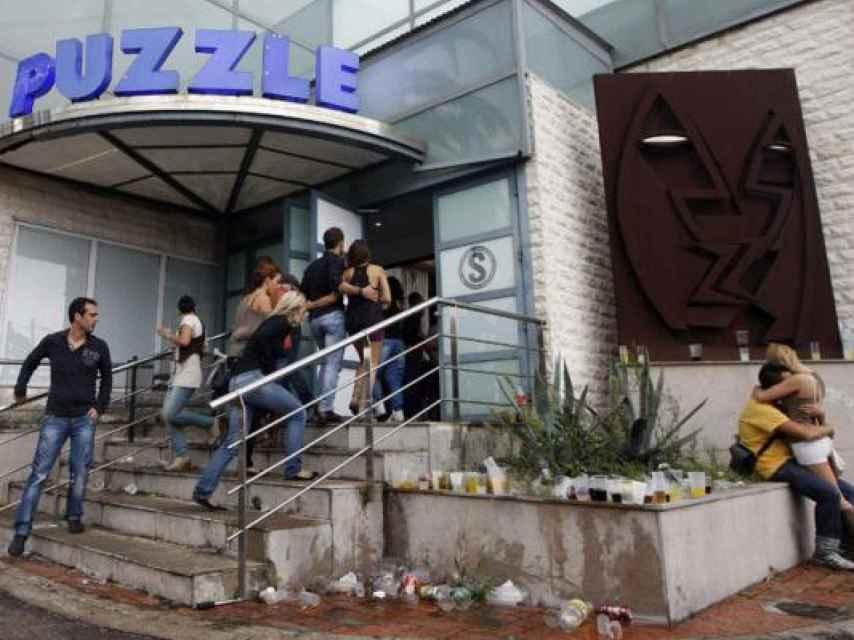 Puerta de la discoteca Puzzle durante sus años dorados.