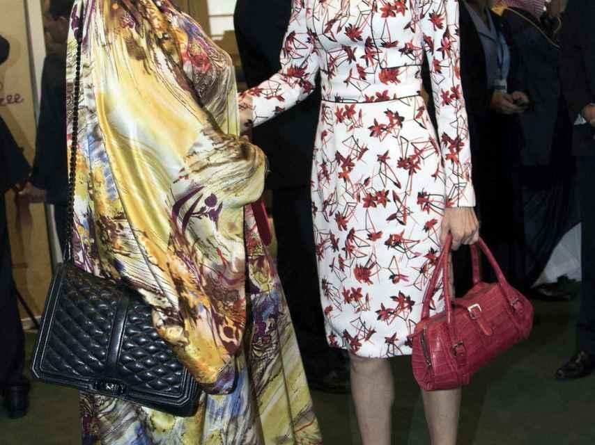 Letizia, con el vestido de Carolina Herrera que lució en Nueva York.