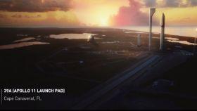 Fotograma de la presentación de SpaceX para su misión a Marte.