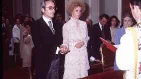 Boda de Jesús Aguirre y Cayetana en la capilla del Palacio de Liria en marzo de 1978
