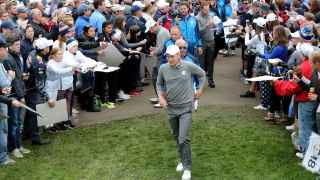 Danny Willett practica en el Hazeltine National Golf Club, donde se disputará la Ryder Cup.