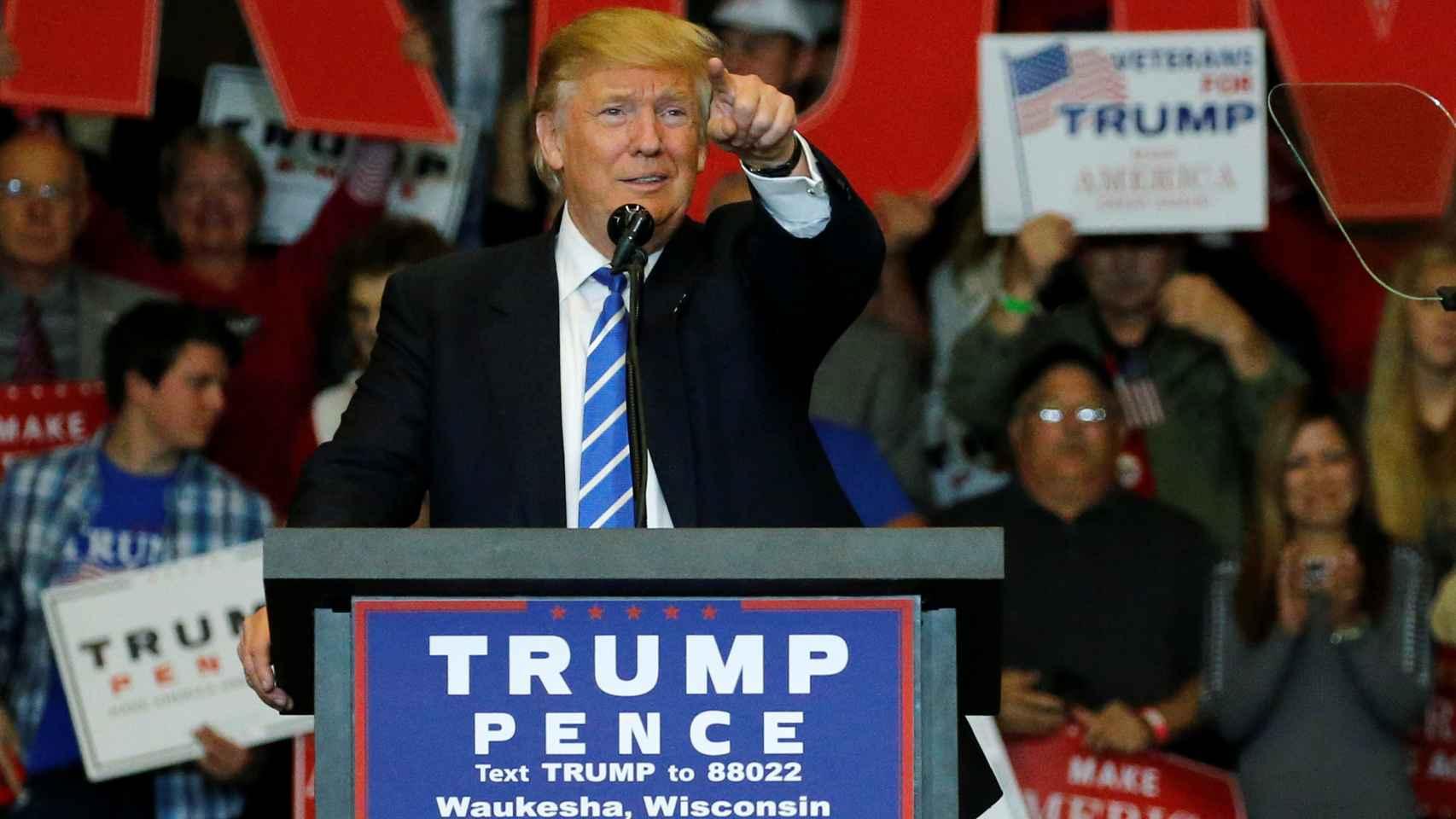 El candidato republicano, Donald Trump, durante un acto de campaña.