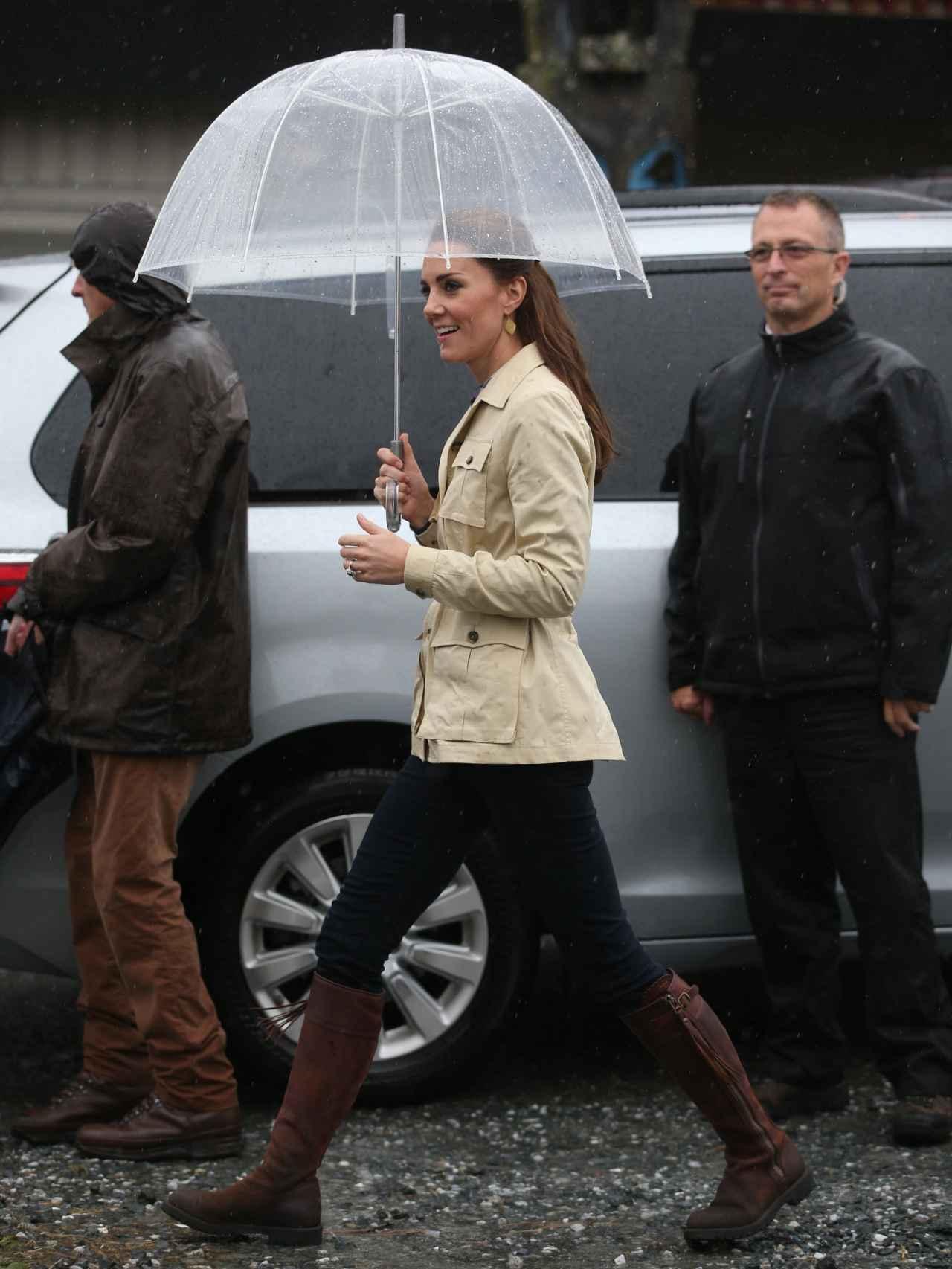 La duquesa de Cambridge, durante uno de sus paseos por las calles de Vancouver.
