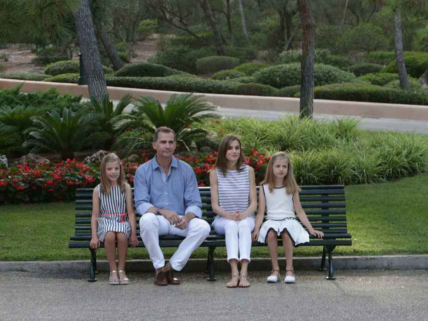 La Familia Real durante su posado estival en Marivent.