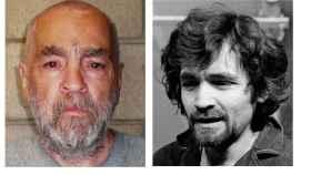 Charles Manson en 2009 y en 1970.