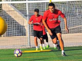 Ramon  Folch durante un entrenamiento.