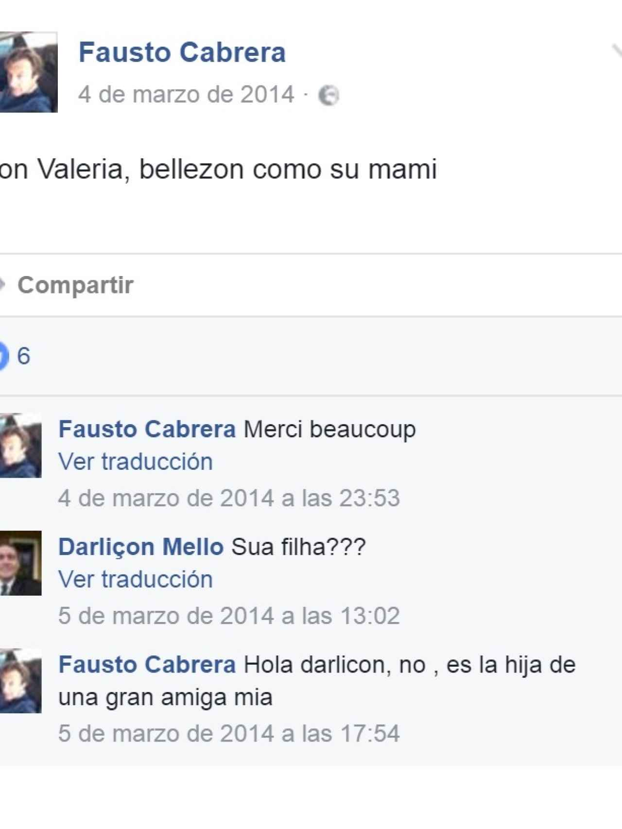 Conversación de Fausto Cabrera sobre su relación con Valeria y Quer y su madre