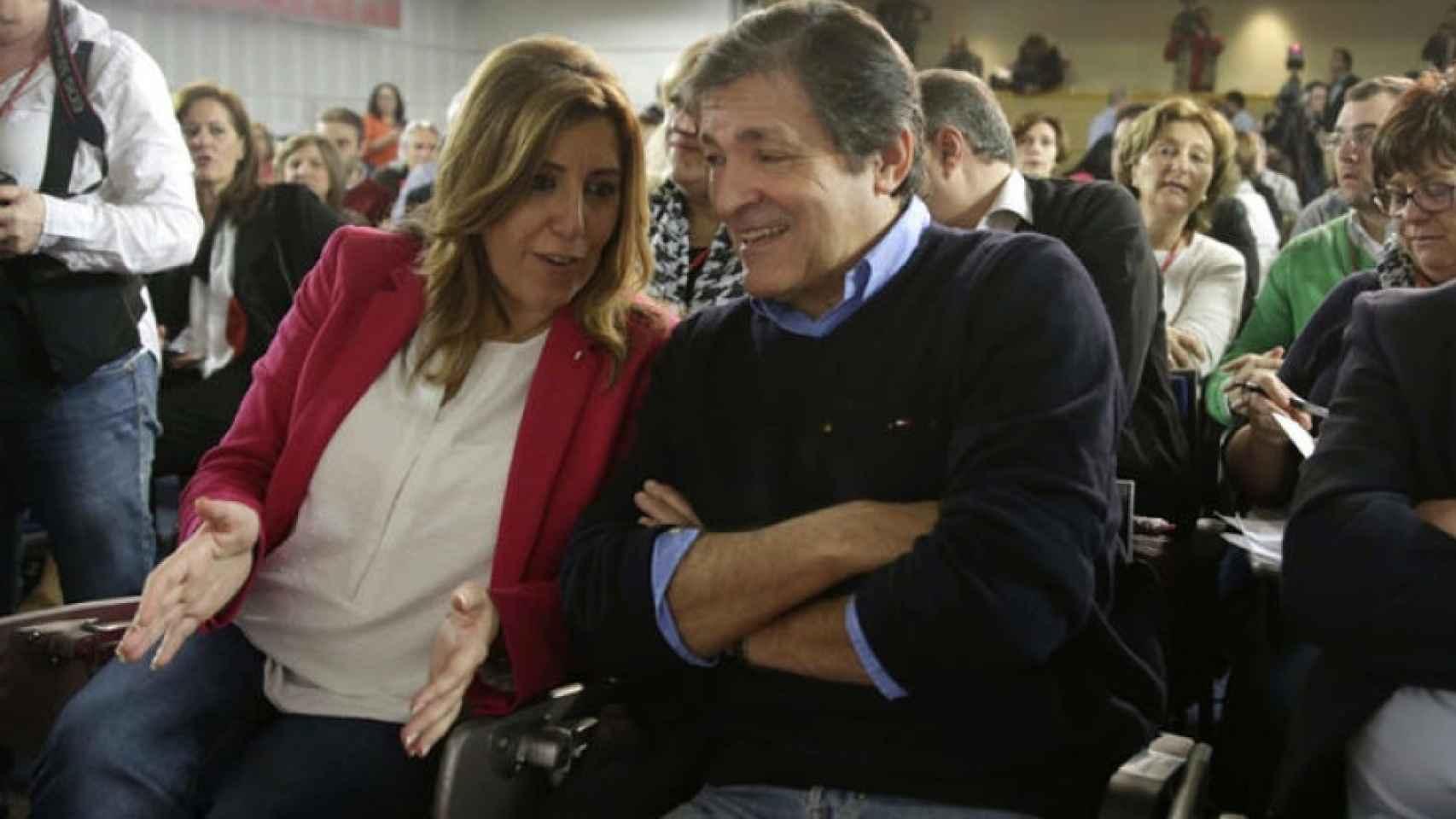 Susana Díaz junto a Javier Fernández.