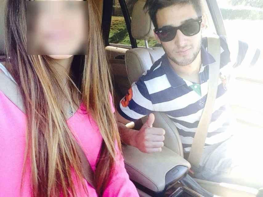 Valeria Quer y su amigo Fausto Cabrera