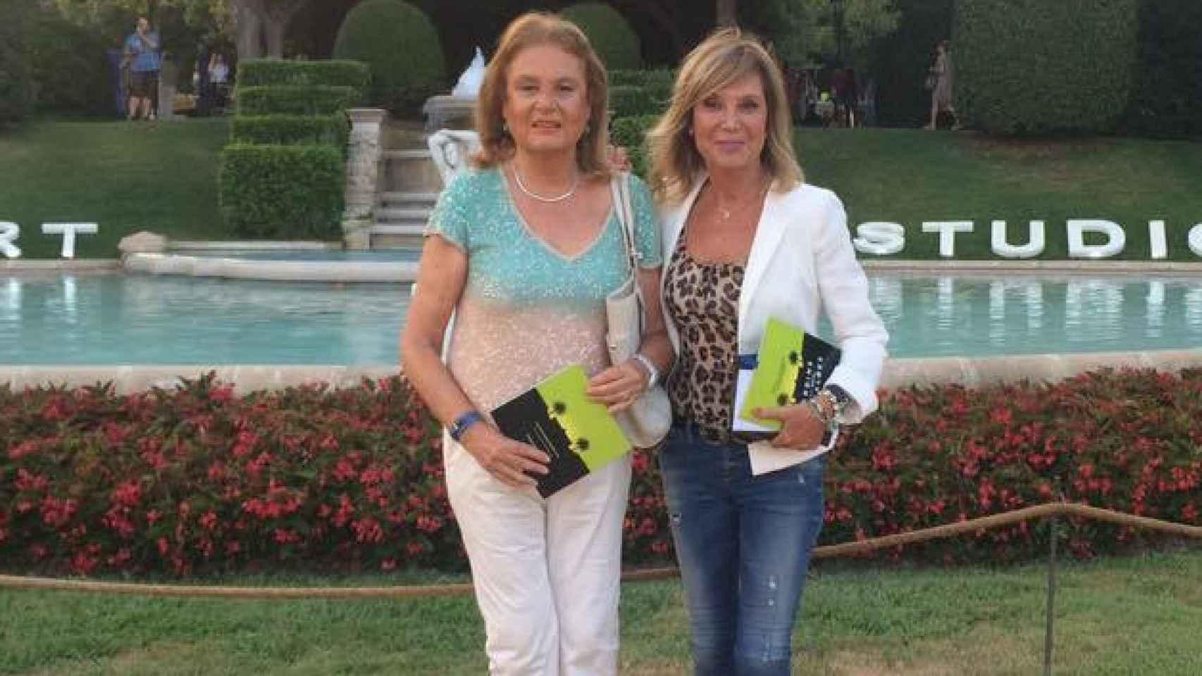 Pilar Eyre y su hermana Olga en el Festival del Música de Pedralbes, en 2015.