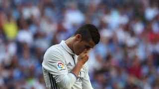 Cristiano Ronaldo durante el encuentro ante el Eibar.