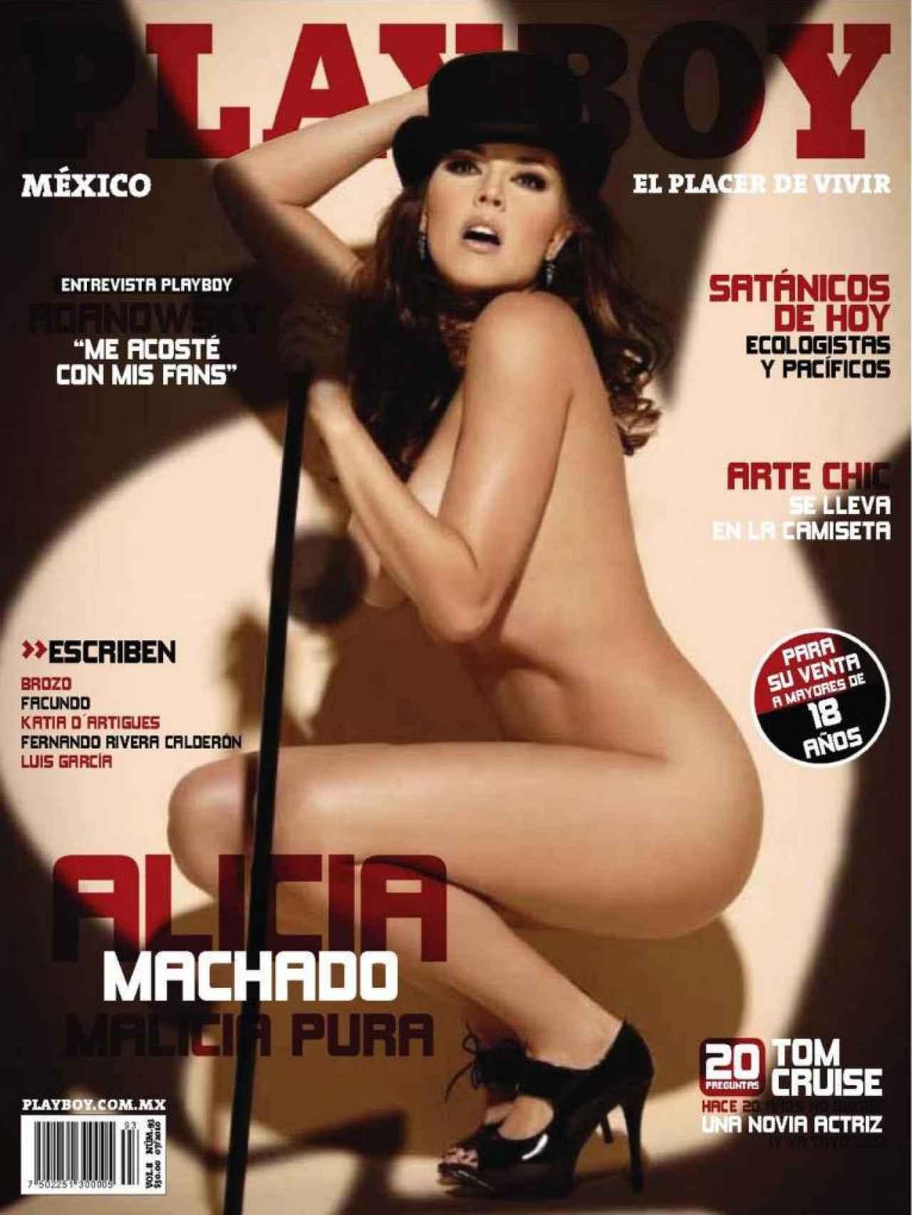 La modelo en la portada de la revista 'Playboy'