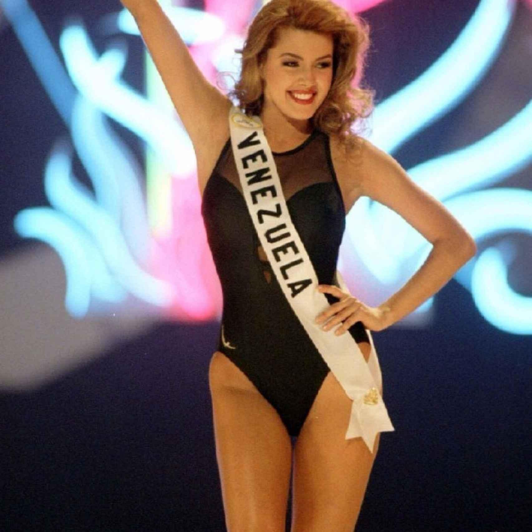 Alicia Machado se alza con el título de Miss Venezuela
