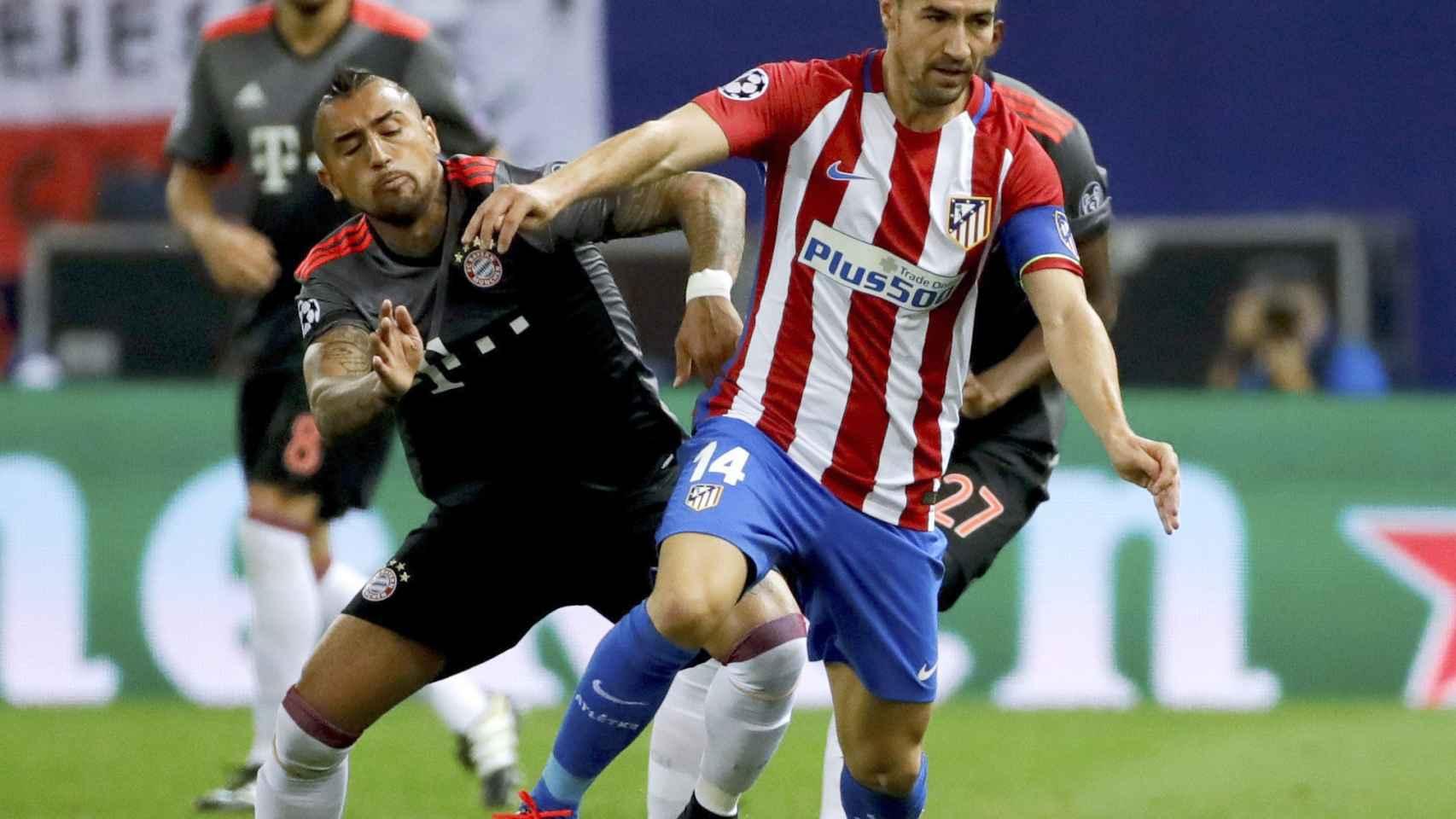 Gabi, durante un partido ante el Bayern.